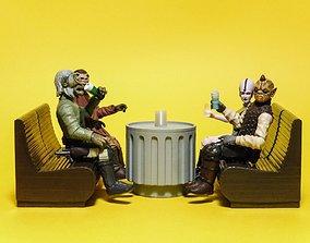 Star Wars Cantina furniture 3D print model