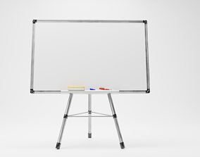 3D asset low-poly WHITE BOARD