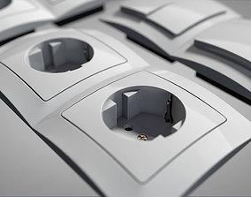 switch frame socket 3D model