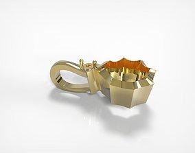 Jewelry Golden Pendant Star Shaped 3D printable model