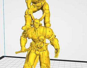 3D printable model BOSSPOSES -DOOM ETERNAL -Piggy Back