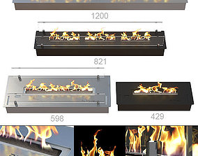 Bio Fireplaces Ruby Fires 3D model