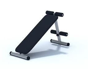 Modern Sleek Exercise Bench 3D model