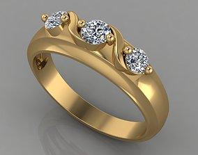 3D printable model sterling ring 97