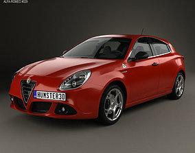 3D Alfa Romeo Giulietta Quadrifoglio Verde 2014