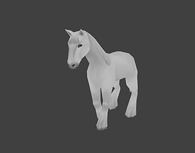 3D model animated Low poly horse