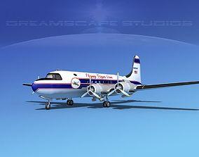 Douglas DC-4 Flying Tiger Line Cargo 3D model
