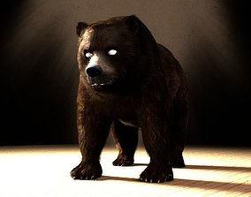 Grizzly Bear 3D animated