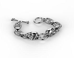 Skull bracelet 3D printable model