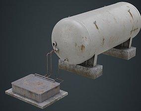 Industrial Gas Tank 2B 3D asset