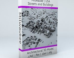 3D model Milwaukee Streets and Buildings map