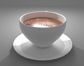 3D Cup with coffee