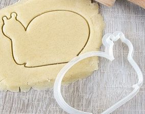Snail cookie cutter for professional 3D printable model
