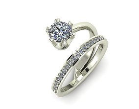 wedding ring double model gold-ring