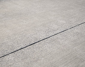 Large area seamless concrete road texture 3D model