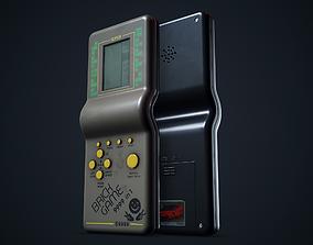 3D asset Tetris game portable console