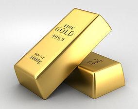 3D model Gold Bar models