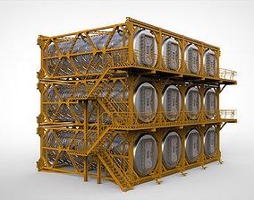 3D model sci-fi architecture 10