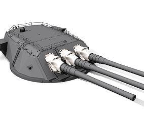 3D print model Oll Main 46 cm calibre guns and burbets 1
