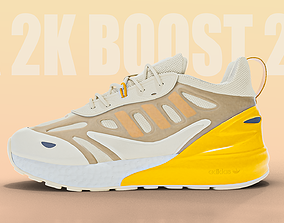 3D asset Adidas zx 2k boost 2 yellow color