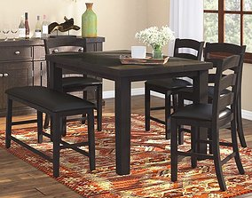 3D model Bodie 6 Piece Counter Height Dining Set