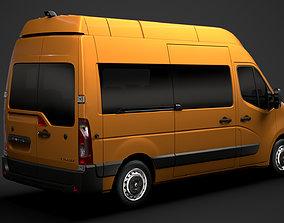 3D model Renault Master L2H3 Minibus 2020