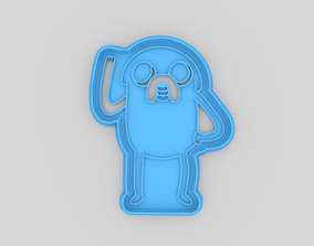 Adventure time Jake cookie cutter 3D printable model