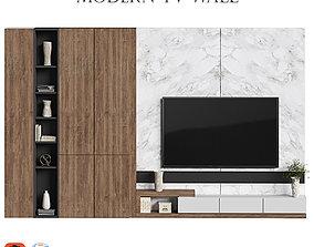 3D model modern tv wall 12