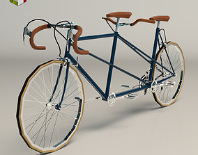 Low Poly Tandem Bike 01 3D model