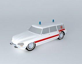DS Citroen break ambulance 3D