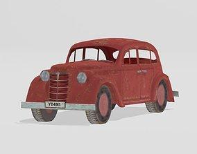 Retro car 3D model
