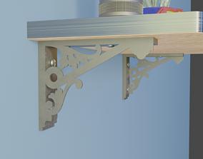 3D printable model shelf bracket 12