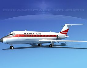 Douglas DC-9-20 Hawaiian 3D model