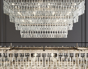 Restoration Hardware MARIGNAN LINEAR CHANDELIER 72 3D 1