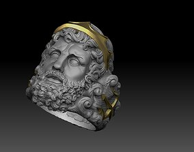 poseidon ring greek god 3D print model neptune