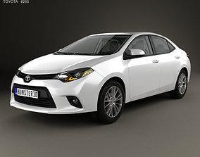 3D model Toyota Corolla LE Eco US with HQ interior 2013