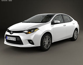 3D model Toyota Corolla LE Eco US with HQ interior 2013