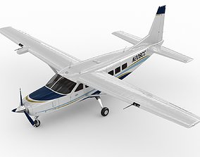 3D model rigged Cessna 208 Caravan