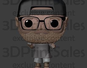 Custom Pop Snapback Beard Glasses 3D print model