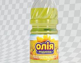 oil 3D model Oil bottle