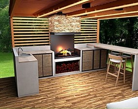furniture outdoor kitchen lounge grill pavilion realtime