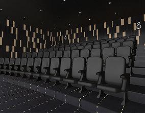 3D asset Modern Cinema Hall 06