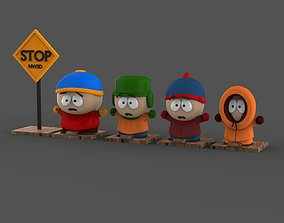 3D model South Park Complete Main Character Pack