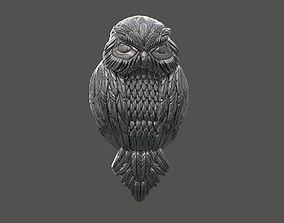 Owl Necklace jewelry 3D print model