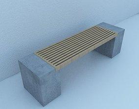 3D model Street Bench Modern