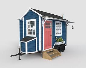 3D asset Trailer House