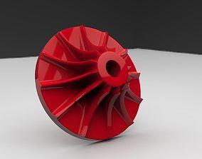 3D printable compressor wheel