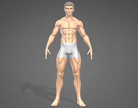 3D asset Male Stylistic Base Body