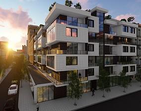 3D model Residential Building street