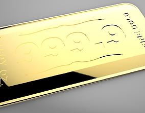 3D printable model Gold Bullion